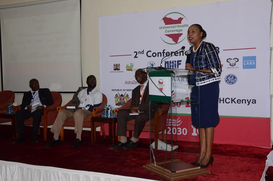 Speech of Nyeri County Governor H.E Mutahi delivered by Deputy Governor H.E Caroline Karugu during 2nd Edition of UHC Conference at Green Hills Hotel on 12th September 2018