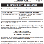RE-ADVERTISMENT FOR THE PURCHASE OF LAND FOR WASTE MANAGEMENT SITE WITHIN NYERI COUNTY