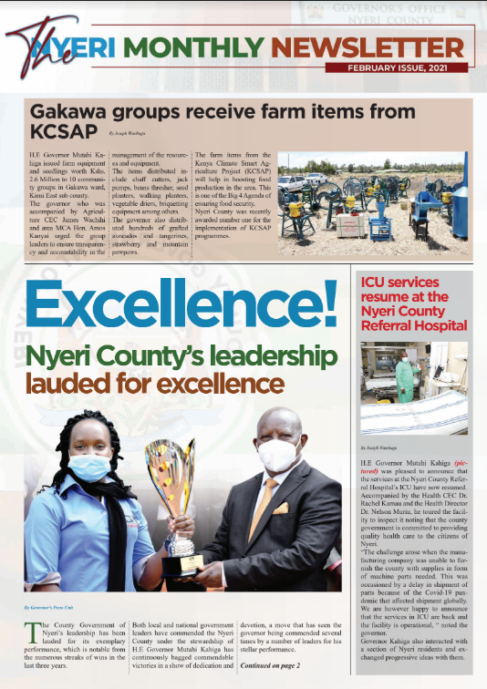 FEBRUARY 2021 ISSUE OF THE MONTHLY NEWSLETTER