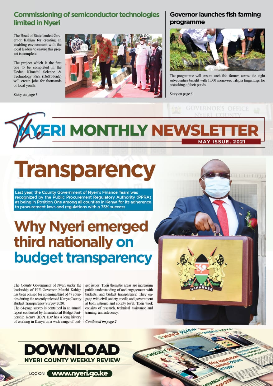 MAY 2021 ISSUE OF THE MONTHLY NEWSLETTER